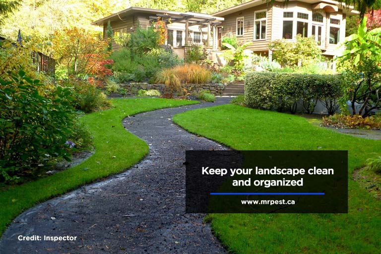 Keep your landscape clean and organized