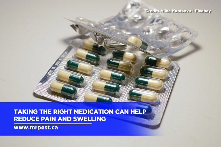 Taking the right medication can help reduce pain and swelling