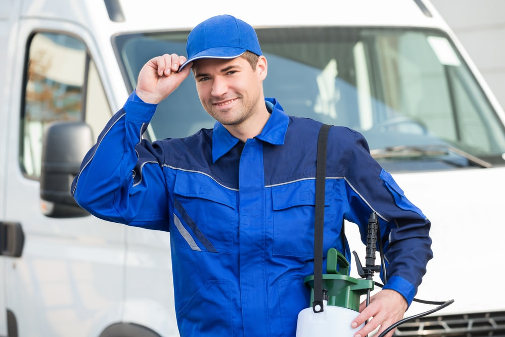 Confident Pest Control Worker