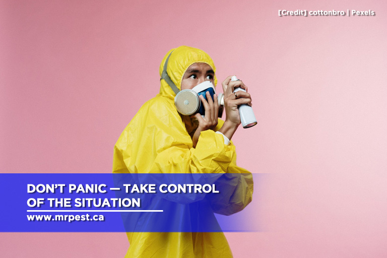 Don't panic — take control of the situation