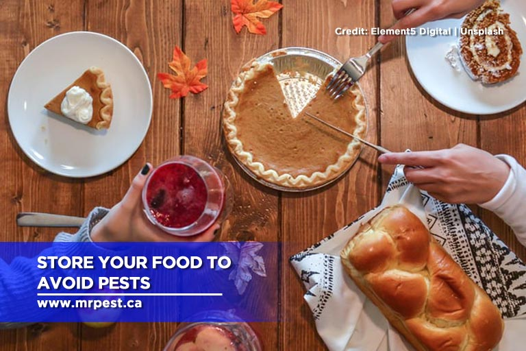 Store your food to avoid pests