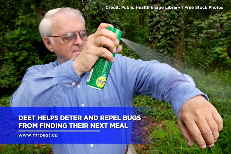 DEET helps deter and repel bugs from finding their next meal
